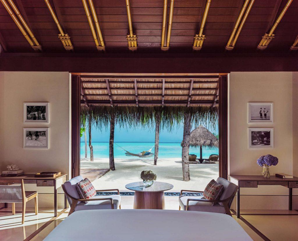 Ausblick aus der Beach Villa im Reethi Rah